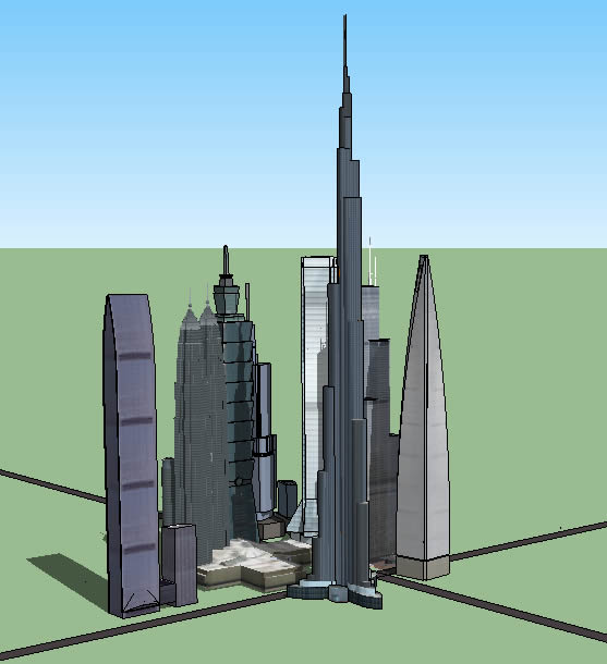 Build a city for Sketchup building